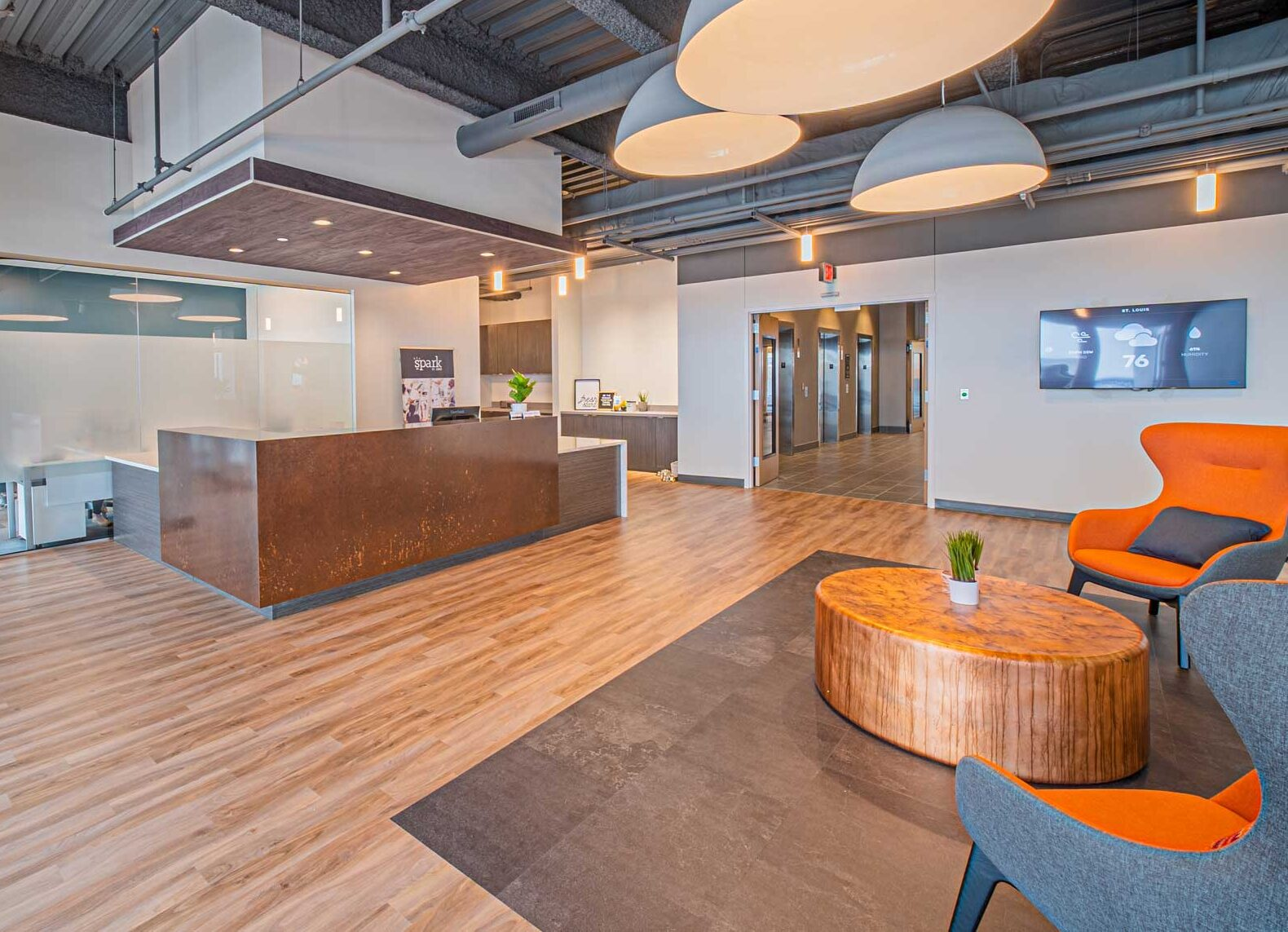 Spark Coworking St. Louis Loby